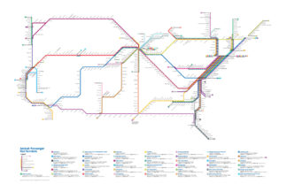 Black And White Subway Map.Amtrak As A Subway Map Sunset Limited
