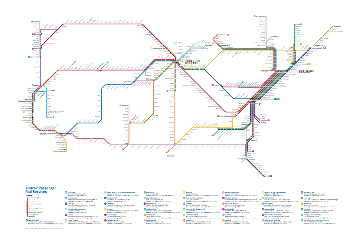 As A Subway Map.Amtrak As A Subway Map Sunset Limited
