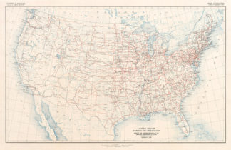 Us Highway As A Subway Map.U S Routes As A Subway Map Transit Maps Store