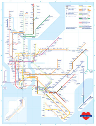 Boston Subway Map Poster.Transit Maps Store