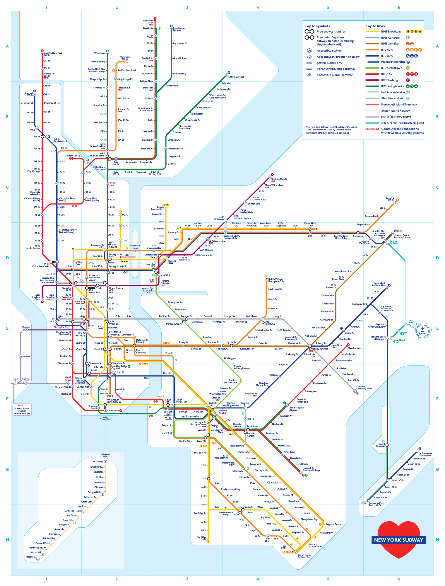 Map Subway London.New York Subway Map In The Style Of The London Underground Map Transit Maps Store